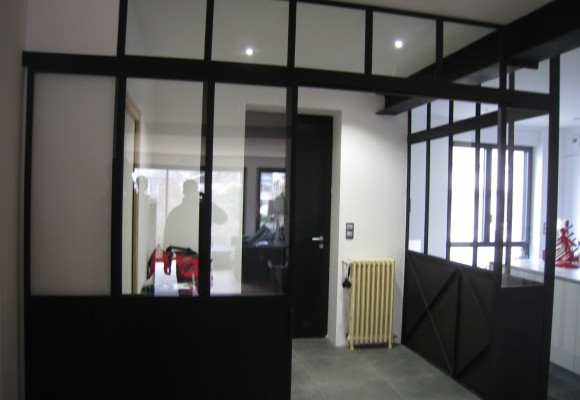 Chantier à Rennes – Cloison vitrée