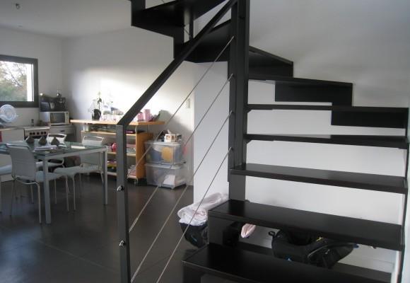 Garde-corps et escalier – Pont Péan