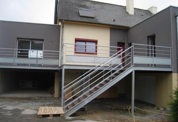 Terrasse Et Escalier En Extrieur  Noyal Sur Vilaine  Suire Sarl